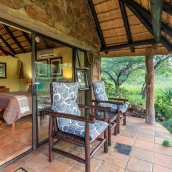 Private Veranda auf der Iketla Lodge