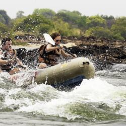 Stromschnellen am Zambesi