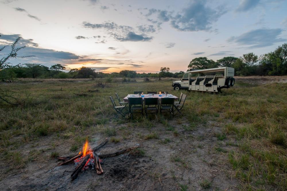 Abendessen in der Wildnis